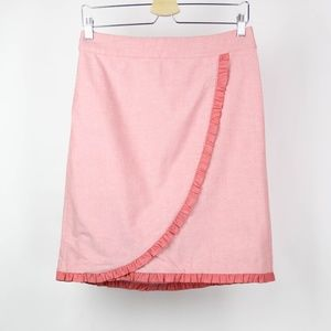 J Crew Womens Skirt Ruffle Accent Size 4 Pink